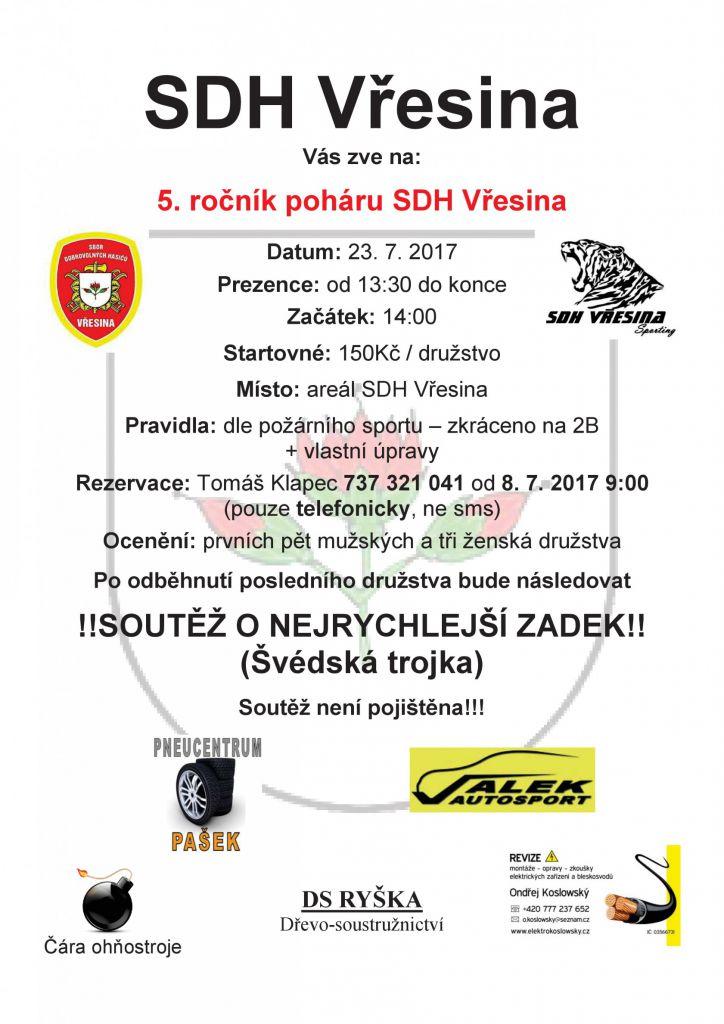 5. ročník poháru SDH Vřesina