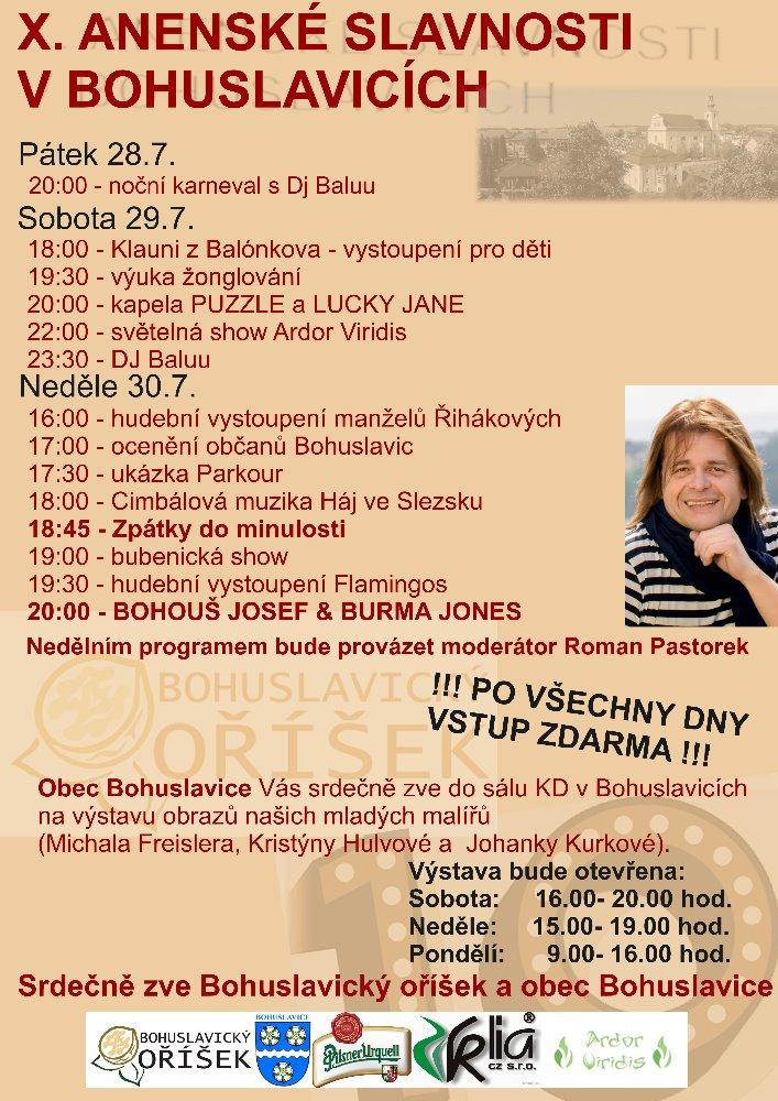 Anenské slavnosti v Bohuslavicích